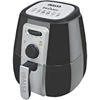 Inalsa Air Fryer 2.9L Fry Light with 1400-Watt and Smart Rapid Air Technology (Black/Grey)