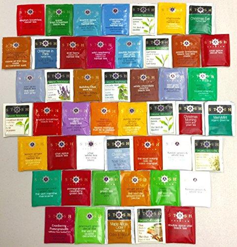 PowerTea Medley Gift Box Stash Tea Variety 45 Tea Bags with Power for Apple Honey Sticks