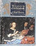 Western Civilization Vol. II 9780395637869