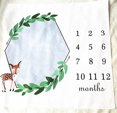Amazon.com: Milestone manta, bebé niña de niños mensual de ...