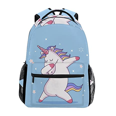 2908b8117 Mochilas escolares de unicornio de baile, mochila grande para niñas ...