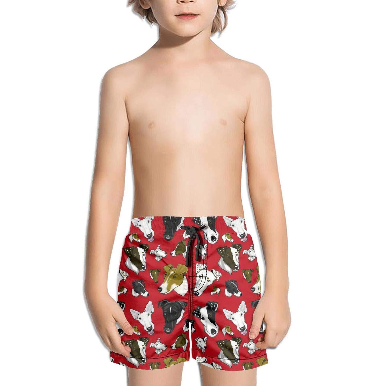 d1dbd8624d Amazon.com: I Love My Dog Kids Boy's Fast Drying Beach Swim Trunks Pants:  Clothing