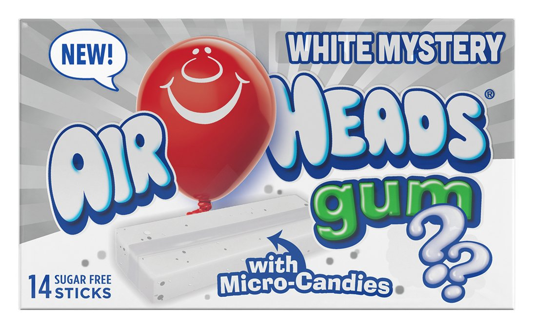 AirHeads Candy Sugar-Free Chewing Gum with Xylitol, White Mystery, Stocking  Stuffer, Gift, Holiday,
