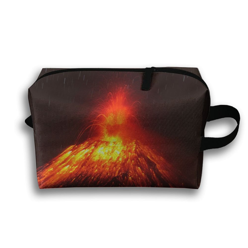 19332ea0cb11 delicate Leisue Amazing Volcano Eruption Cosmetic Bag Zipper Makeup ...