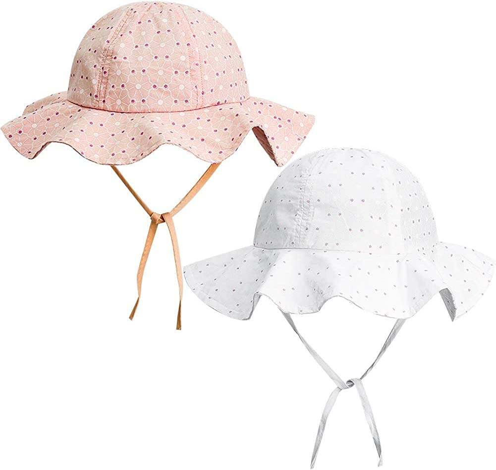 Cappello da sole unisex a tesa larga ragazzo Ami/&Li tots protezione solare UPF 50 per bambina neonato