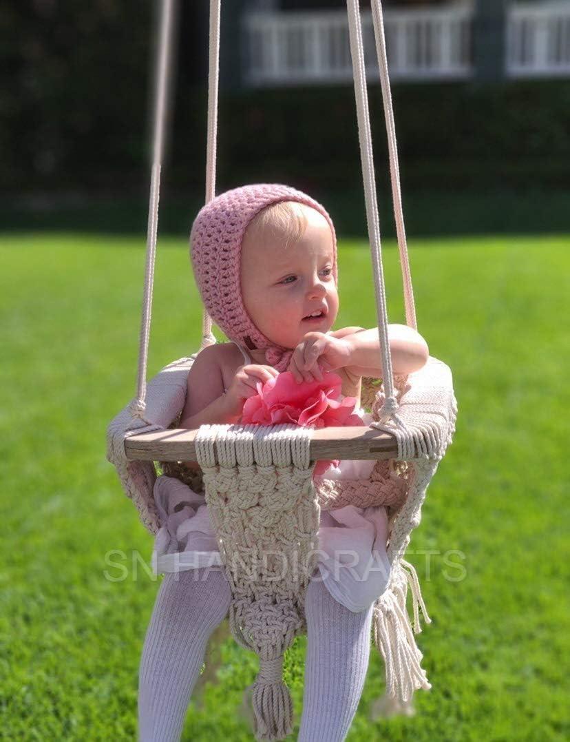 Handmade Macrame Baby Swing Boho Baby Nursery Macrame Baby Crib Boho Macrame Baby Cradle Macrame Baby Moses