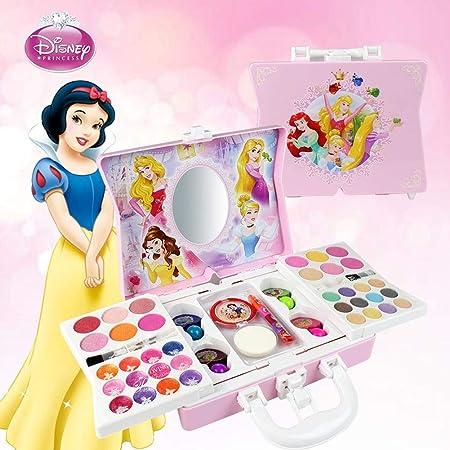 Motto.H Disney 53pcs Princesa Juego De Cosméticos para Niñas con Espejo   Lavable Y No Tóxico   Maquillaje Princesa Real con Estuche   Regalo Ideal para Niños: Amazon.es: Hogar