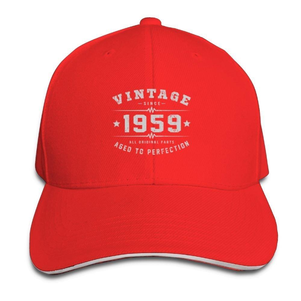 BUSEOTR Vintage 1959 Baseball Caps Adjustable Back Strap Flat Hat