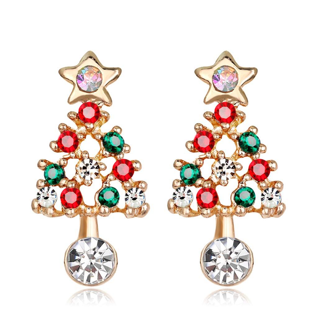Amazon.com: LifePavilion Vintage Christmas Ear Stud Xmas Earrings ...