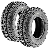 Set of 2 SunF A027 XC ATV UTV Knobby Sport Tires 19x7-8, 6 PR, Tubeless