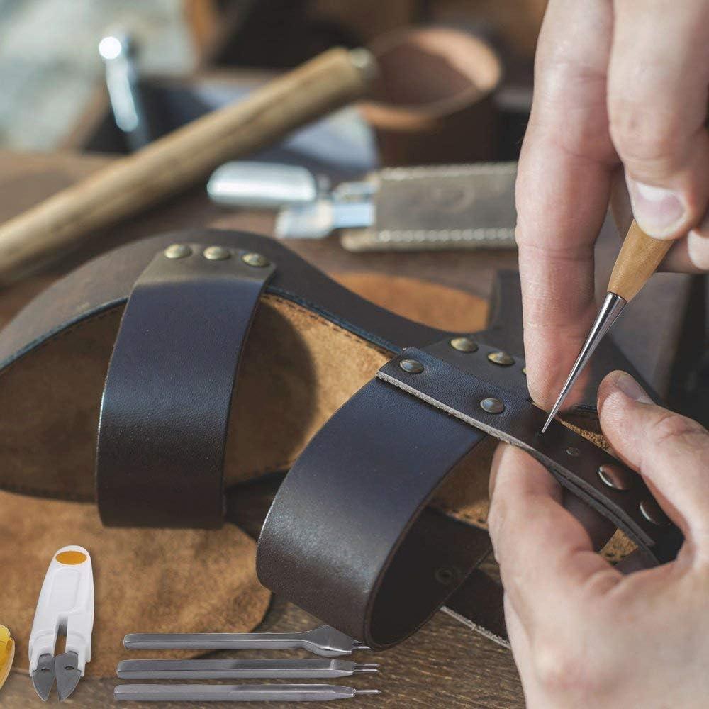 KEREITH Kits de reparación de Costura de Cuero 59 Piezas Máquinas ...