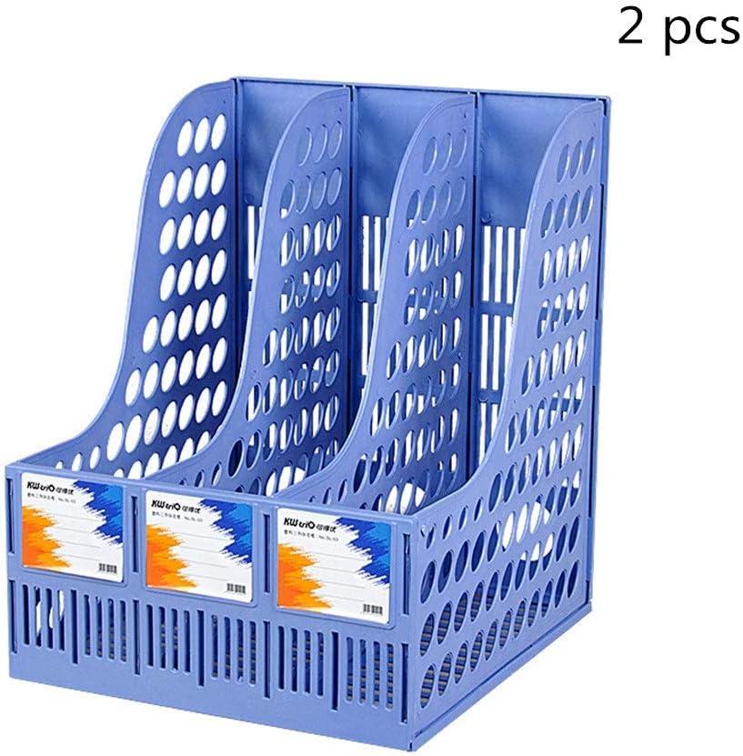 Color : Black, Size : 24x26x31cm DEPRQ Document Storage Rack 3 Sort File Sorter Organizer Vertical Upright Desk File Organizer Home Office Document Letter Mail Tray Sorter 2 Pcs Desk File Organiser
