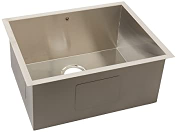 vigo 23 inch undermount single bowl 16 gauge stainless steel kitchen sink