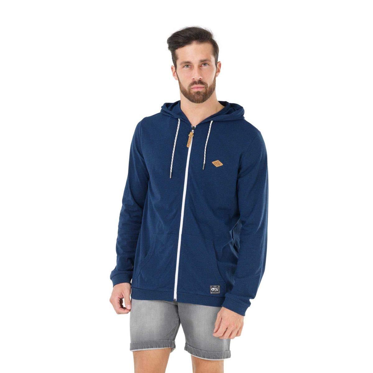 Bleu Marine L Picture Organic Clothing Basically Zip sweat à capuche Hommes