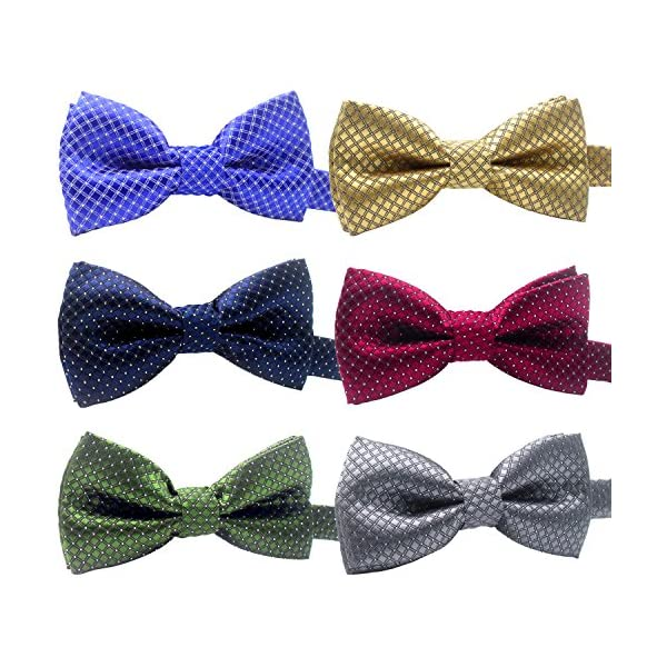 YOY Handcrafted Adorable Pet Bow Ties – 6-Pack Adjustable Neck Tie 11.4″-18.5″ Polka Dots Bowties Dog Collar Neckties Kitty Puppy Grooming Accessories for Doggy Cat, 6 Colors Click on image for further info.