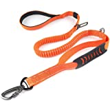 Bungee Dog Leash - Dog Leash for Medium and Large Dogs 4-6 FT Double Handle Reflective Dog Leash for Walking Training Heavy D
