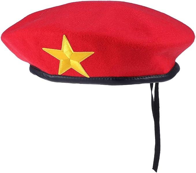 Amosfun Sombrero clásico de Marinero Capitán Rojo Traje Yate Gorra ...