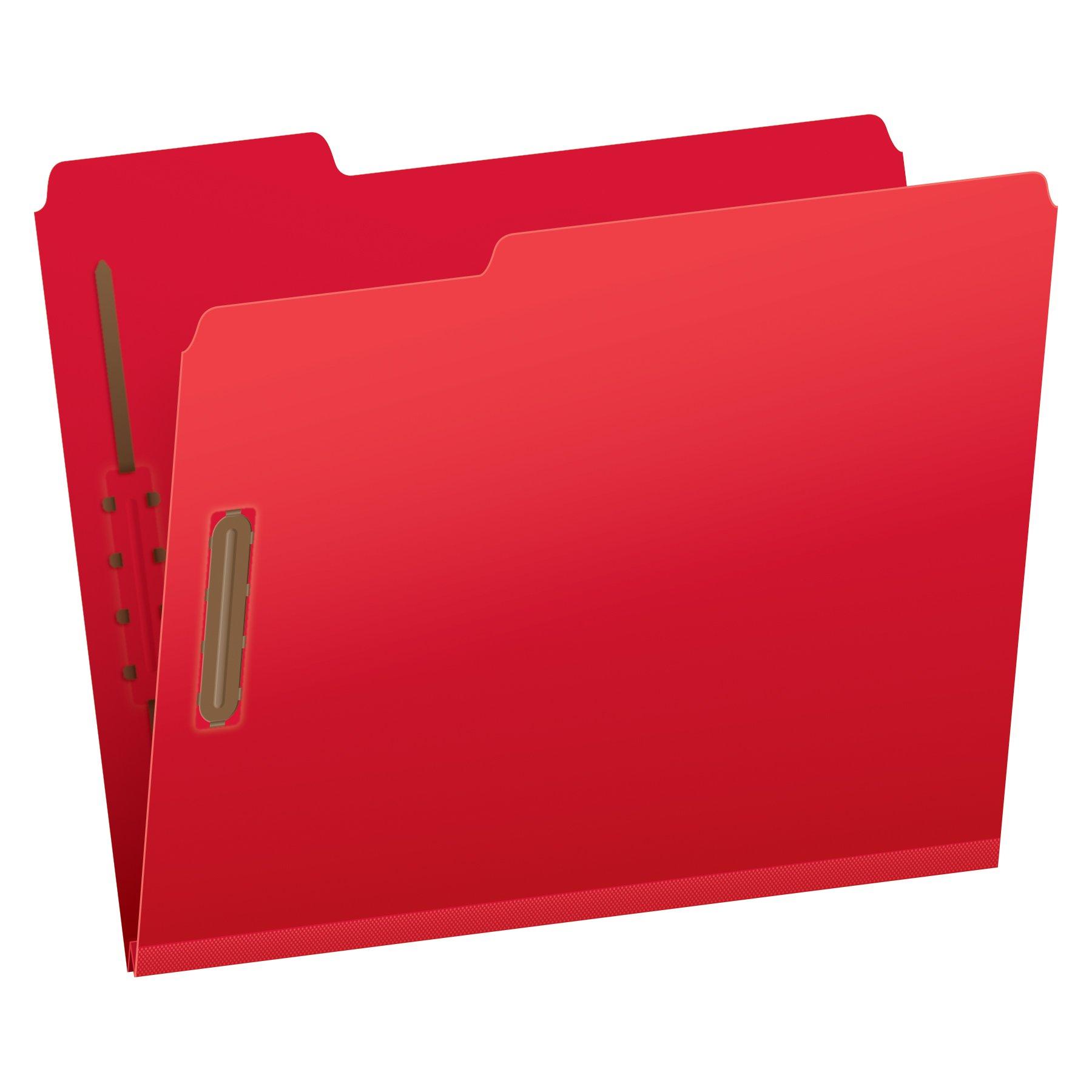 Pendaflex Pressboard Fastener Folders, Letter Size, Bright Red, 2'' Expansion, 1/3 Cut, 25/BX (15936GW) by Globe Weis