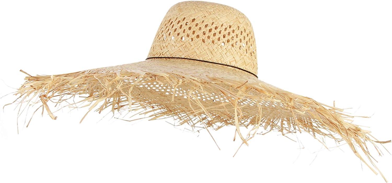 Eight Space Femme Chapeau de Soleil Floppy Pliable Bowknot Large Bord Large Paille Femmes Chapeaux d/ét/é Plage Cap Protection UV Summer Beach Cap pour Voyage