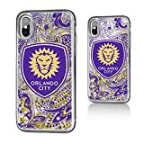 Keyscaper Orlando City Soccer Club Paisley iPhone X Gold Glitter Case MLS