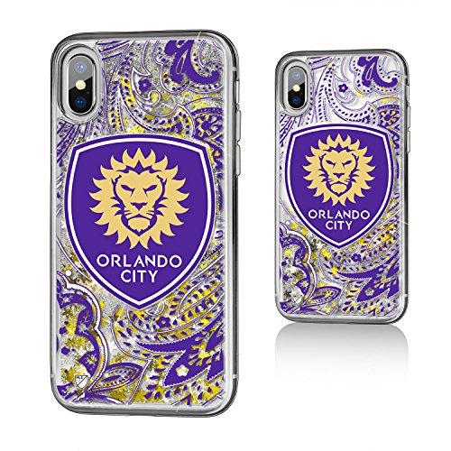 Keyscaper Orlando City Soccer Club Paisley iPhone X Gold Glitter Case MLS by Keyscaper