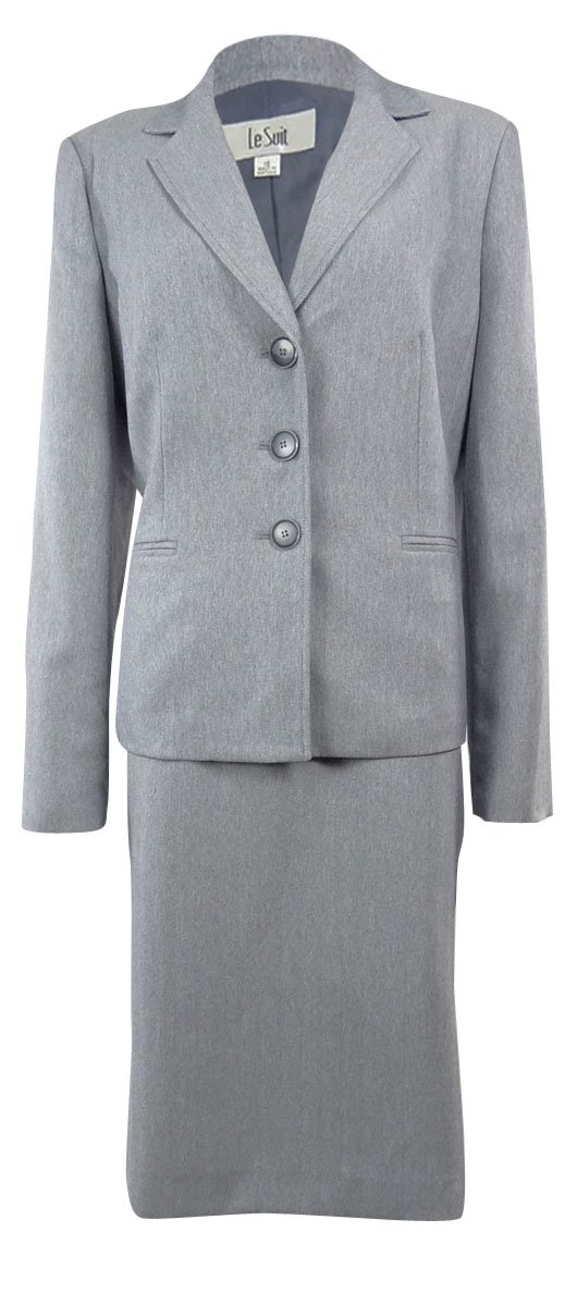 Women's Long Sleeve Hounds-tooth Jacket Skirt Suit Set, Size 10, Navy White