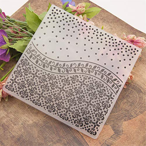 Plastic Embossing Folder, Stencils Template Molds Scrapbooking Paper Crafts Decor Cards Making for DIY Photo Album Decoration(1515cm)