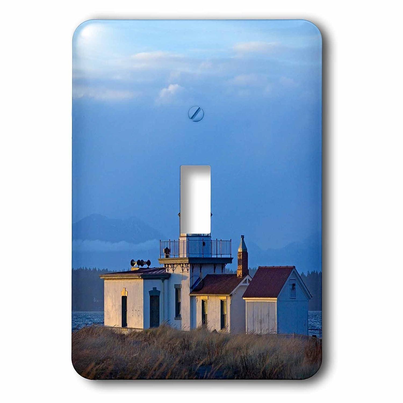 3dRose LSP/_191994/_1Washington Seattle Puget Sound Historic Lighthouse Single Toggle Switch