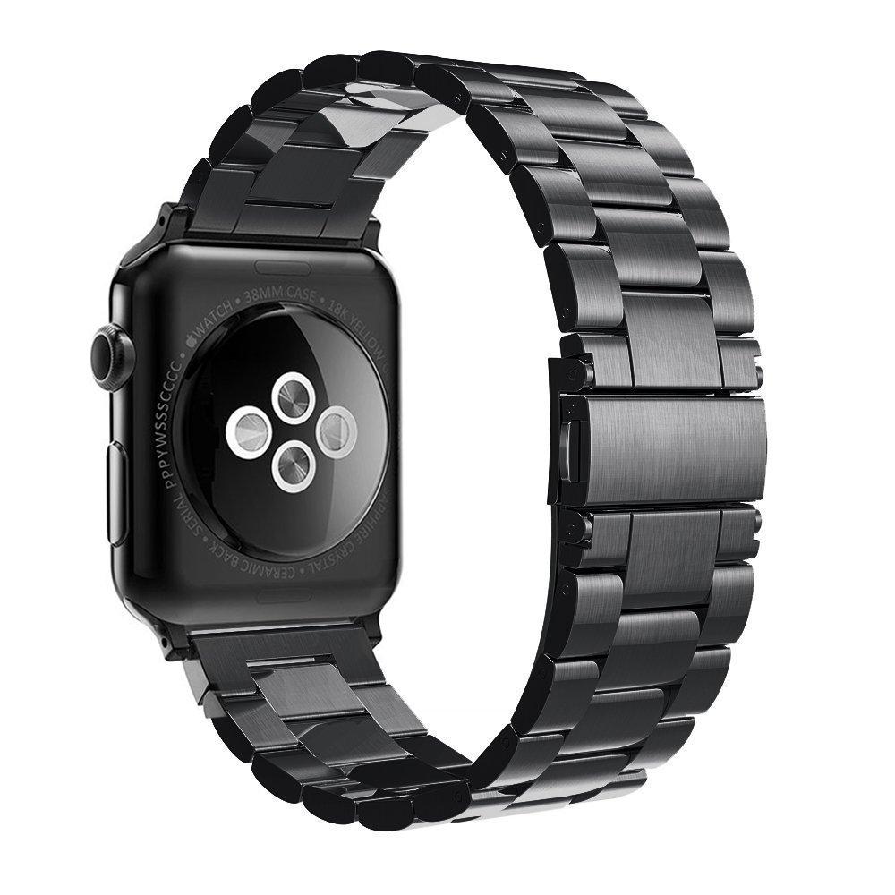 ffef3bae37 Simpeak Bracelet Compatible avec Apple Watch 38mm/40mm Métal Fermoir en  Acier Inoxydable Bande de Remplacement pour Apple iWatch Series 4, Series  3, ...