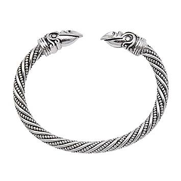YNuth Viking Armband Rabekopf Draht Silber Legierung Schmuck Retro ...