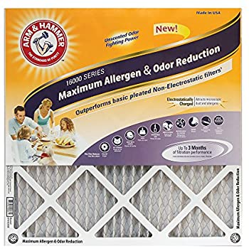 Arm & Hammer Max Allergen & Odor Reduction 20x25x1Air and Furnace Filter, MERV 11, 4-Pack