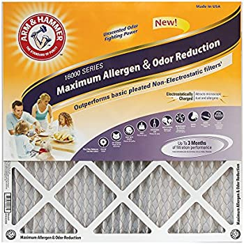 Arm & Hammer Max Allergen & Odor Reduction 18x24x1Air and Furnace Filter, MERV 11, 4-Pack