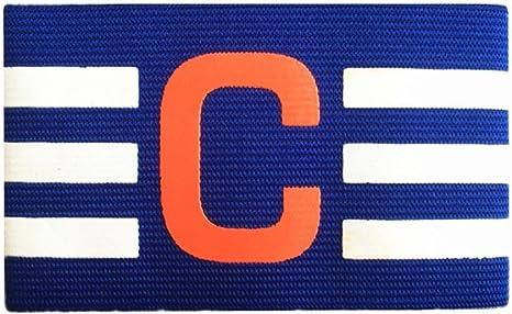 3 brazaletes elásticas de capitán de fútbol y rugby para hombres, la banda para el brazo tiene la letra C con rayas, de Super-Bab, azul: Amazon.es: Deportes y aire libre