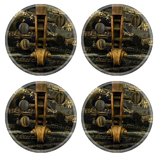 Liili Round Coasters Violin and music sheet Photo 4244650
