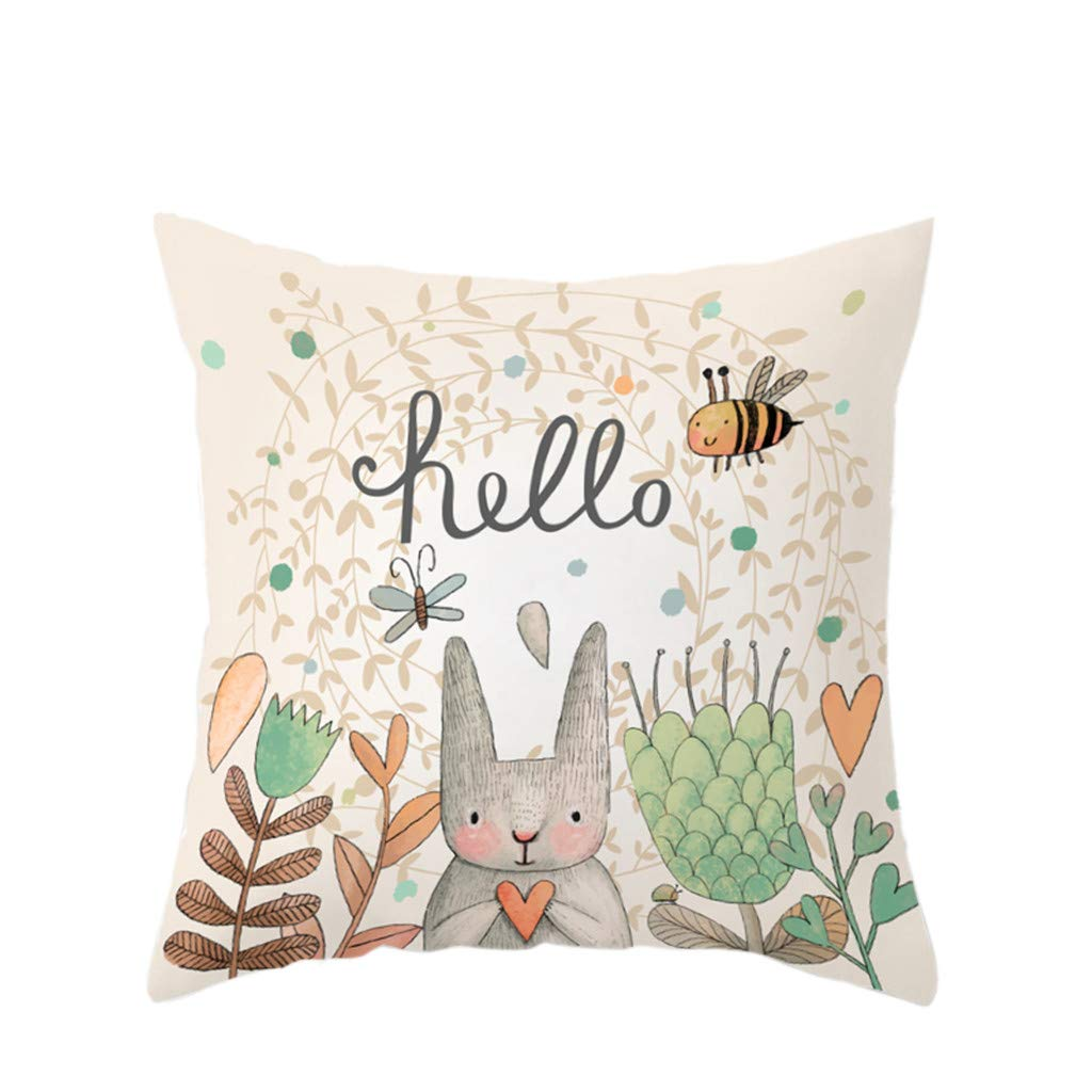 Kinglly Easter Rabbit Pillow Covers Vintage Truck Farm Fresh Easter Eggs Sofa Car Cushion Cover Home Decor