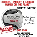 Non-Conforming Illegal Custom Golf Driver -Extreme Distance Extra Long 750cc Huge Banned
