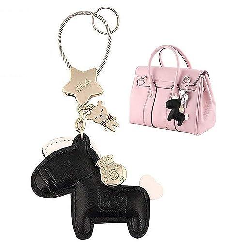 62b5495376e9b Amazon.com  MILESI Cute Horse Keychain (Key Chain) Organizer