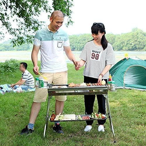 Barbecue HZY en Plein air Grill, Charbon Pliable Sauvage, au Charbon Grill est Parfaitement enregistré dans Votre Cuisine 73 * 33.5 * 23cm