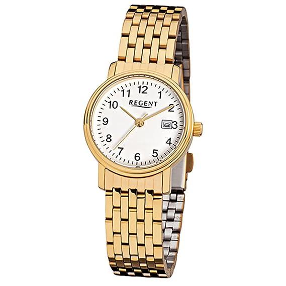 Regent Reloj mujer F717 Acero Inoxidable Oro