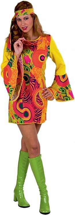 Festartikel Müller 119.379 Disfraz de hippie para mujer, vestido ...