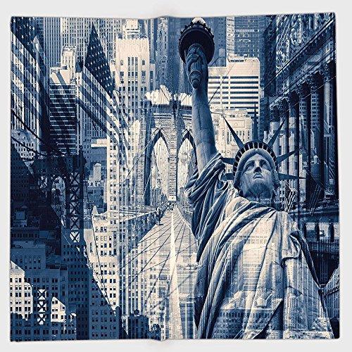 iPrint Diadema de poliéster bandana bufandas, Estados Unidos, doble exposición imagen de estatua de la libertad con...