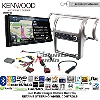 Volunteer Audio Kenwood Excelon DNX994S Double Din Radio Install Kit with GPS Navigation Apple CarPlay Android Auto Fits 2003-2004 Infiniti G35 (Gun Metal) (Single zone A/C controls)