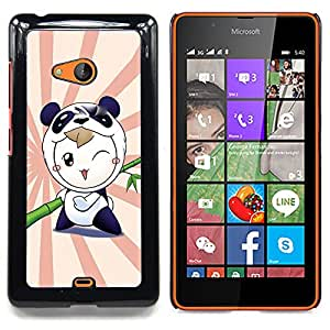 - Cute Panda Warrior/ Hard Snap On Cell Phone Case Cover - Cao - For Microsoft Nokia Lumia 540 N540