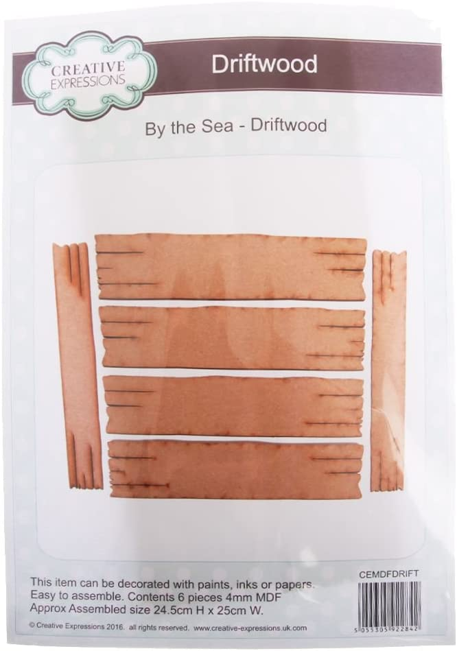One Size Creative Expressions MDF-by The Sea Driftwood Natural