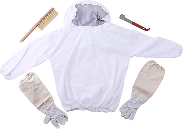 Beekeeper Protective Beekeeping Suit Safety Veil Hat All Body Smock Workwear