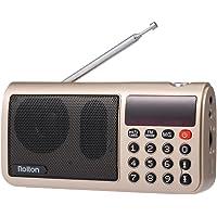 Docooler Rolton T50 FM + MW + SW 3-Band Digital Radio Portátil USB con Cable Equipo Altavoz HiFi Receptor estéreo w/Linterna LED Pantalla Soporte TF Music Play