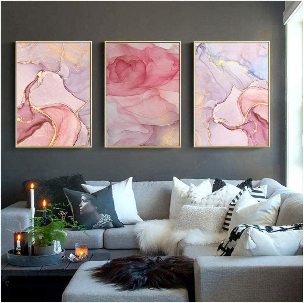 Abstract Marble Geometric Art Painting Canvas Poster Wall Modern Home Room Decor
