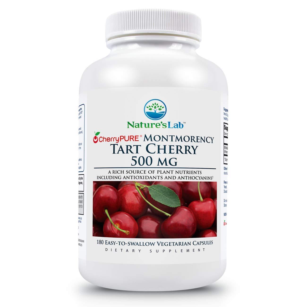 Nature's Lab Tart Cherry 500mg - 180 capsules