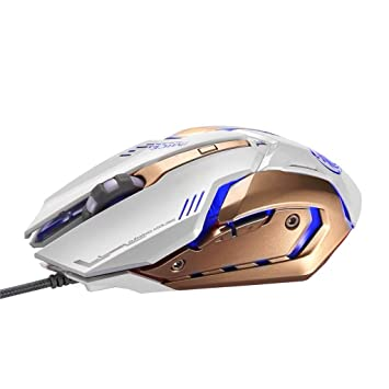 0f6e9908f52 IMice V8 Optical USB Wired Gaming Mouse with 6 Button: Amazon.co.uk:  Electronics