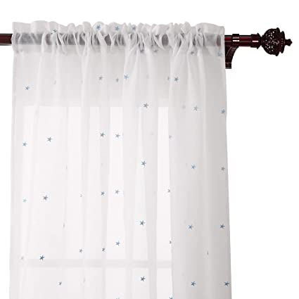 White Sheer Curtains 63 Inches Long Flisol Home
